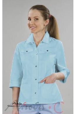 К70.1 Куртка женская, бледно-голубой